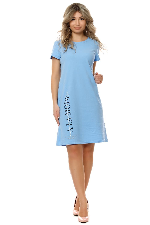 """Платье """"Модница"""" небесно-голубой"""